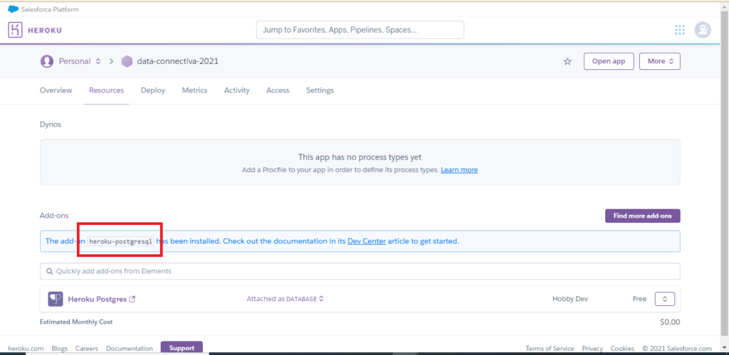 Achieve Salesforce Data Archiving to Heroku Step 5